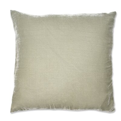 Signature Solid Silk Velvet Throw Pillow Color: Gray