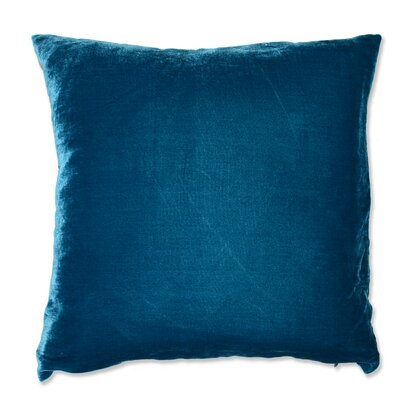 Signature Solid Silk Velvet Throw Pillow Color: Teal
