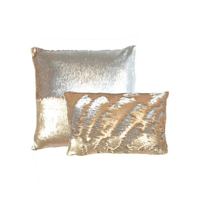 Mermaid Sequins Lumbar Pillow Color: Citrine