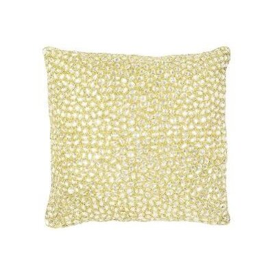 Jewel Accent Pillow Color: Off White, Size: 18 x 18