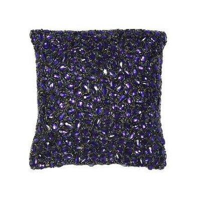 Jewel Accent Pillow Color: Indigo, Size: 18 x 18