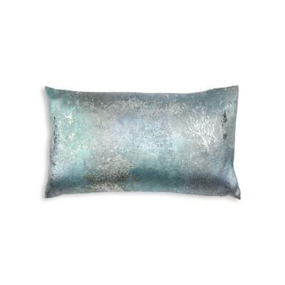 Textile Library Estate Lumbar Pillow Color: Aqua Borealis