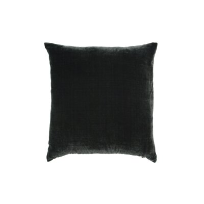 Throw Pillow Color: Charcoal