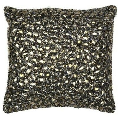 Jewel Accent Pillow Color: Smoke, Size: 18 x 18
