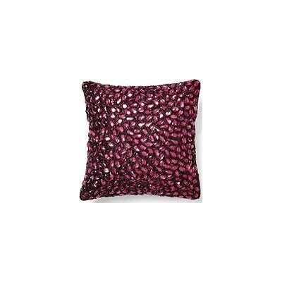 Jewel Accent Pillow Color: Berry, Size: 10 x 10