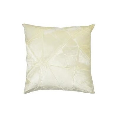 Signature Facet Accent Pillow Color: Ivoire, Size: 20 x 20