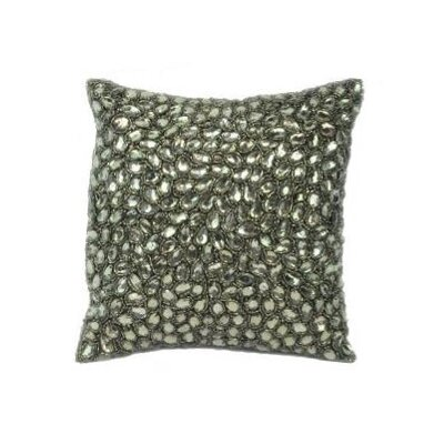 Jewel Accent Pillow Color: Beetle Green, Size: 10 x 10