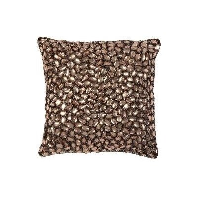 Jewel Accent Pillow Color: Merlot, Size: 10 x 10