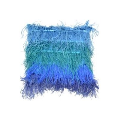 Feather Throw Pillow Color: Blue, Pillow Size: 20 x 20