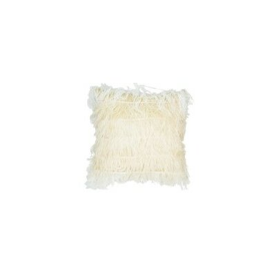 Feather Throw Pillow Color: Creme/Blush, Pillow Size: 20 x 20