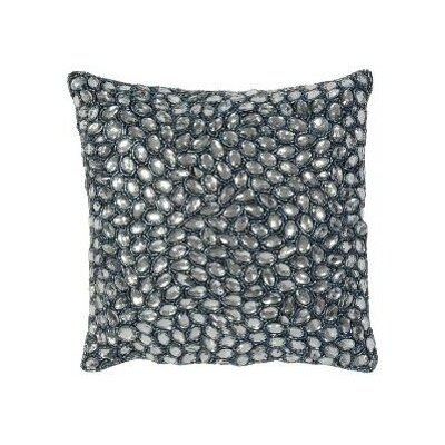 Jewel Accent Pillow Color: Navy, Size: 10 x 10