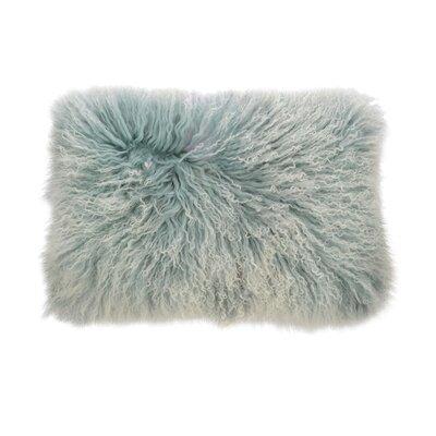 Double Dipped Mongolian Lumbar Pillow Color: Cinder