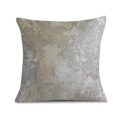 Textile Library Estate Throw Pillow Color: Silver