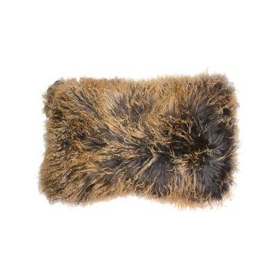 Mongolian Luxe Fur Lumbar Pillow Color: Stormy