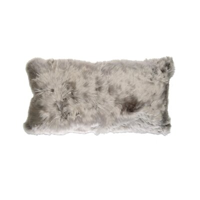 Luxe Fur Suri  Alpaca Lumbar Pillow Color: Fawn