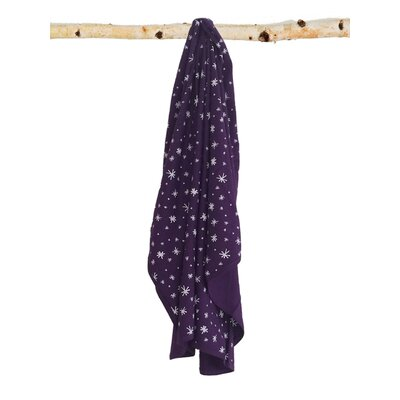 Starry Sky Signature Cotton Blanket Color: Purple