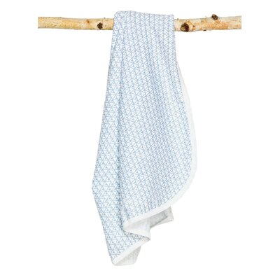 Pineapple Signature Cotton Blanket Color: White / Blue
