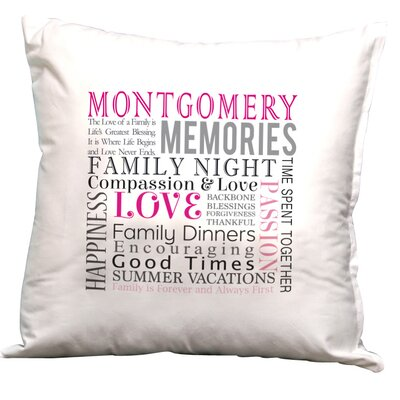 Personalized Family Decorative Pillow Cushion Cover