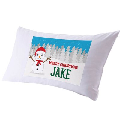 Personalized Kids Name Christmas Pillow Case