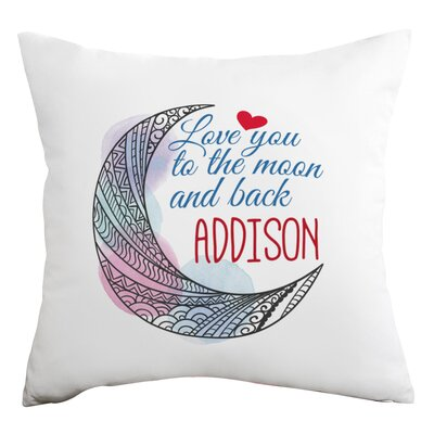 Personalized Love You to the Moon and Back Decorative Cushion Cover