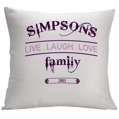 Personalized Live Laugh Love Family Decorative Cushion Cover