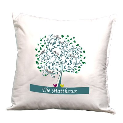 Personalized Family Tree Decorative Pillow Cushion Cover