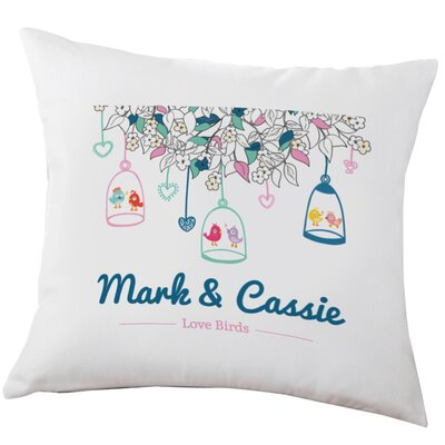 Personalized Love Birds Decorative Cushion Cover