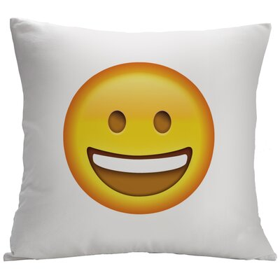 Happy Face Emoji Decorative Cushion Cover