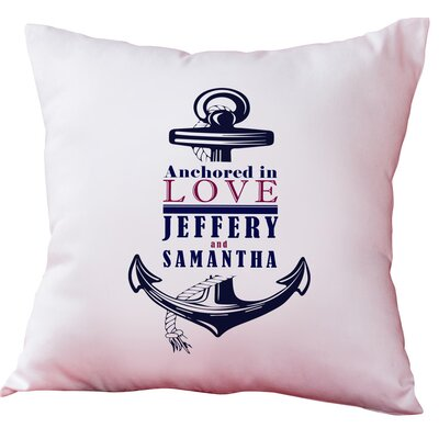 Personalized Anchored in Love Decorative Cushion Cover