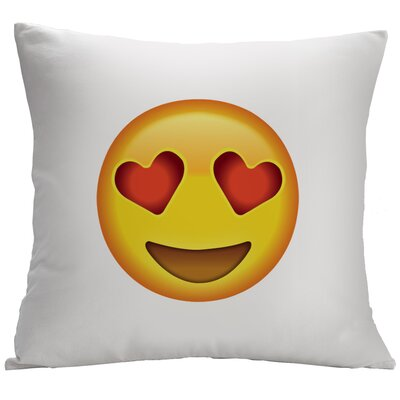Heart-Shaped Eyes Emoji Decorative Cushion Cover