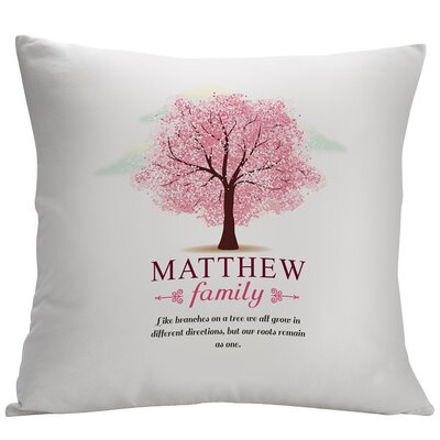 Personalized Leaves Family Tree Decorative Cushion Cover