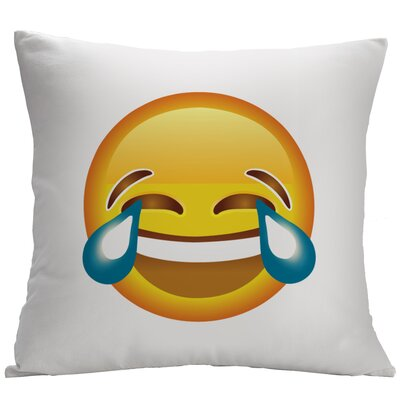 Face with Tears of Joy Emoji Decorative Cushion Cover