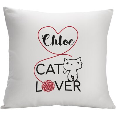 Personalized Cat Lover Decorative Pillow Cushion Cover