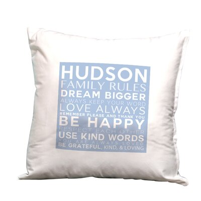 Personalized Family Rules, Dream Bigger Decorative Pillow Cushion Cover