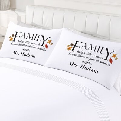 2 Piece Personalized Family Memories Pillowcase Set