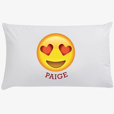 Heart-Shaped Eyes Customized Emoji Pillow Case