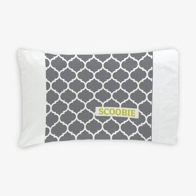Quatrefoil Personalized Dog Pillow Case