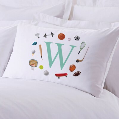 Personalized Kids Initial Sports Pillow Case