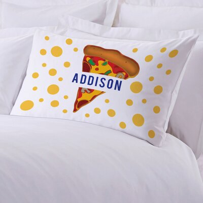 Personalized Kids Name Pizza Pillow Case