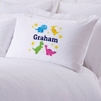 Personalized Dinosaurs Stars Pillow Case