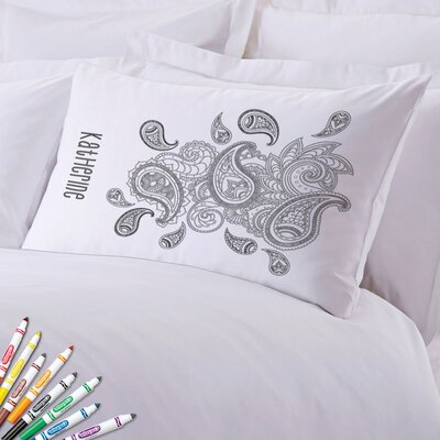 Add Color Paisley Custom Pillow Case
