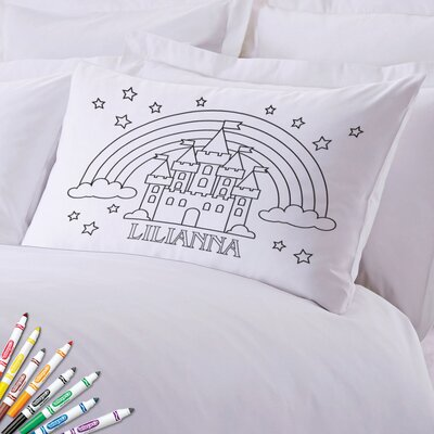 Add Color Kids Custom Rainbow Castle Pillow Case
