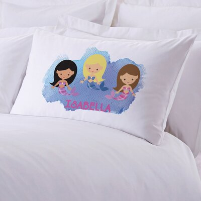 Personalized Kids Mermaid Friends Pillow Case