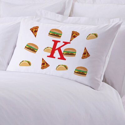 Personalized Food Initial Pillow Case