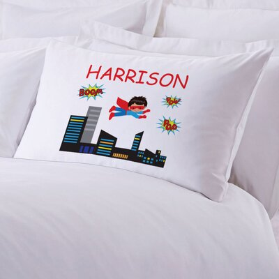 Personalized Kids Superhero Pillow Case