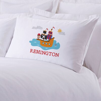 Personalized Kids Pirate Ship Pillow Case