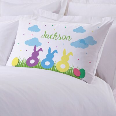Personalized Easter Bunnies Kids Pillow Case