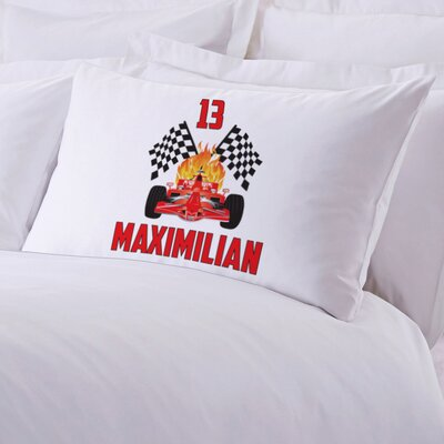 Custom Race Car Kids Pillow Case