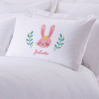 Crowned Easter Bunny Personalized Kids Pillow Case