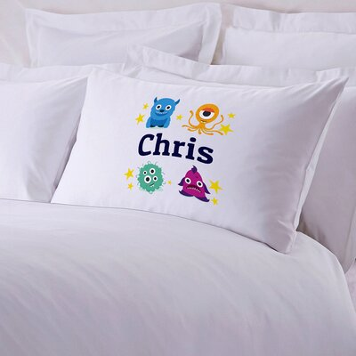Kids Little Monsters Personalized Pillow Case